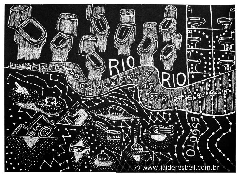Jaider Esbell, Rio, [s.d]. Fonte: Galeria Jaider Esbell